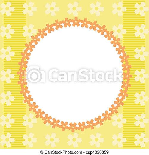 quadro, flores, amarela - csp4836859