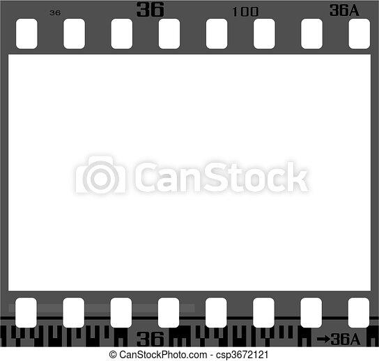 quadro, negativo, película - csp3672121