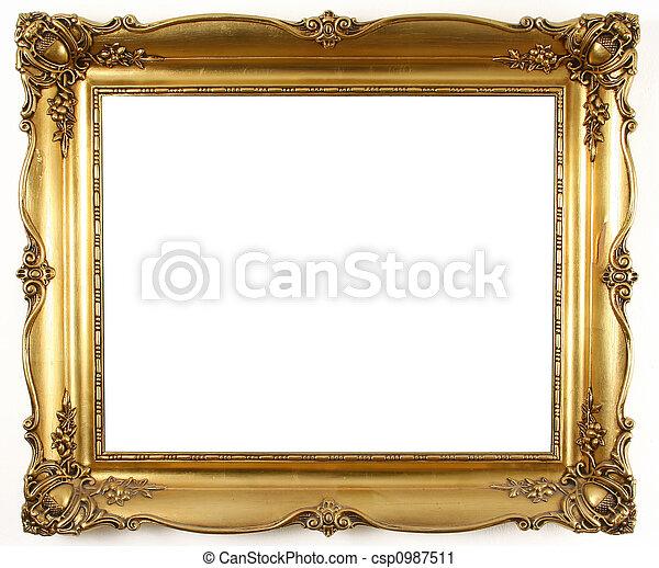 quadro, ouro - csp0987511