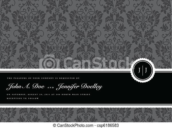 quadro, vetorial, fita, fundo - csp6186583