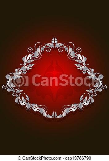 quadro, vindima, brillian, branca - csp13786790