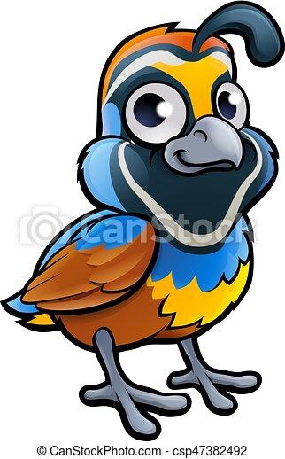 Quail Bird Cartoon Character - csp47382492