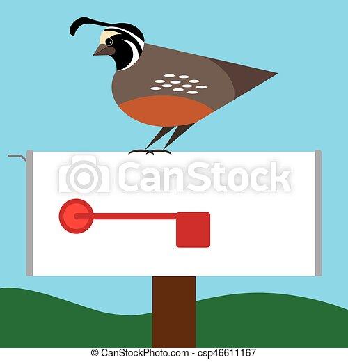 quail on mailbox stylized quail is resting on rural mailbox clip rh canstockphoto com quail clipart images quail clipart