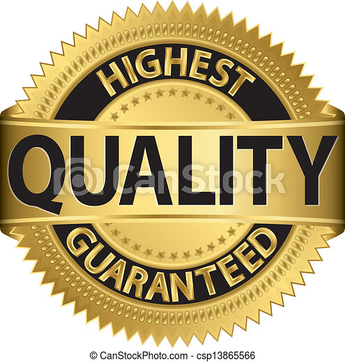 qualidade, alto, guaranteed, l, dourado - csp13865566