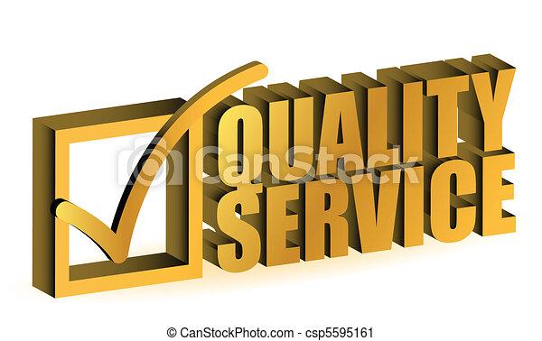 qualità, servizio - csp5595161