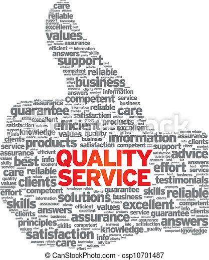 qualità, servizio - csp10701487