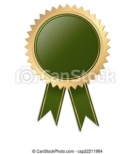 qualità, -, verde, sagoma, sigillo - csp22211984