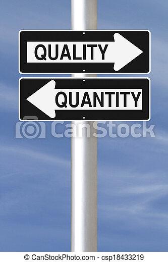 Quantität Qualität
