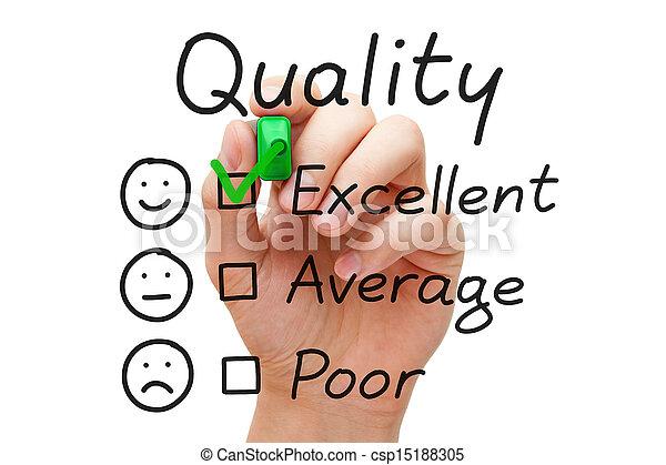 qualité, évaluation, excellent - csp15188305