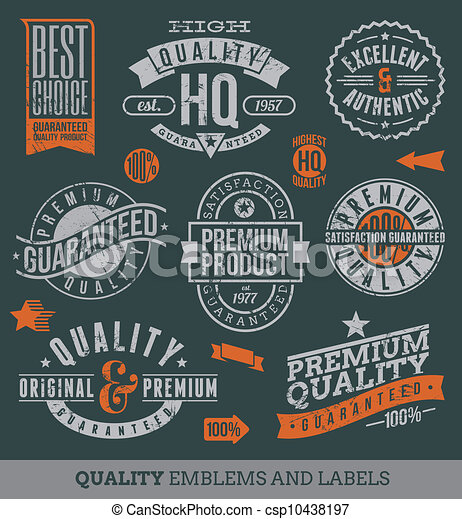 Quality and guaranteed labels - csp10438197