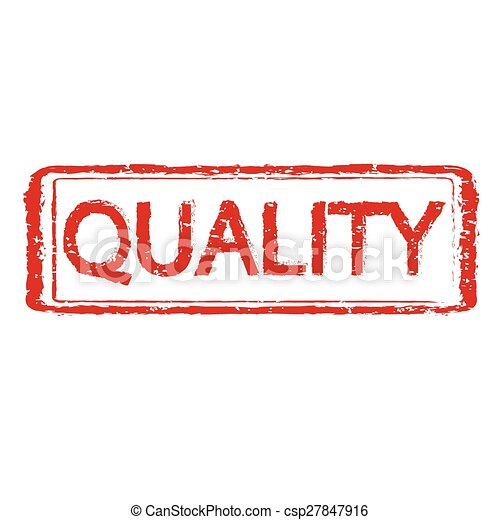 QUALITY rubber stamp text illustration - csp27847916