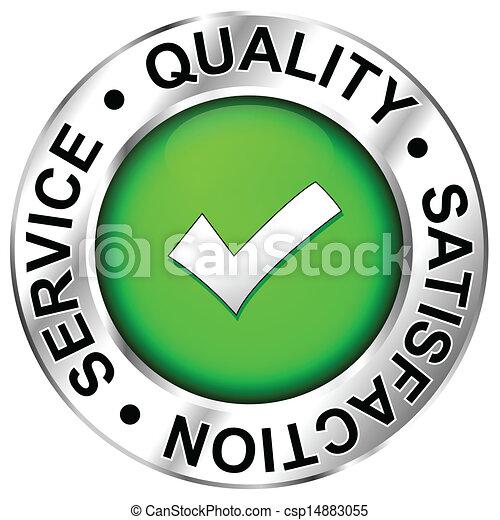 Quality, satisfaction, service - csp14883055