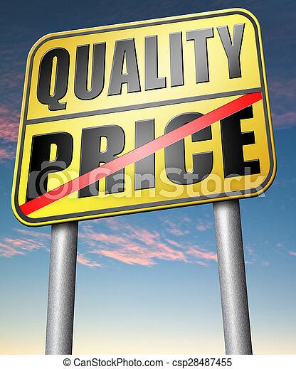 quality versus product price - csp28487455