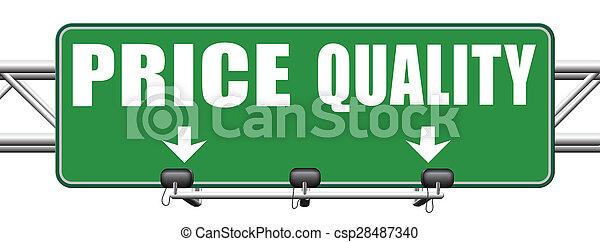 quality versus product price - csp28487340