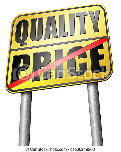 quality versus product price - csp36219203