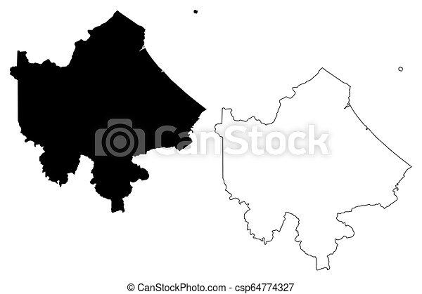 Quang Tri Province Map Vector Quang Tri Province Socialist