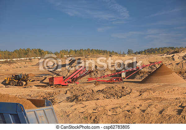 Quarry for the extraction of sand - csp62783805