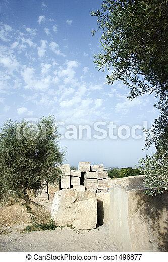 quarry., pierre, travertin - csp1496877