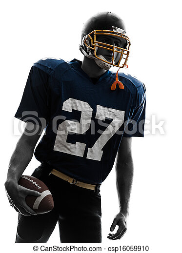 quarterback american football player man portrait - csp16059910