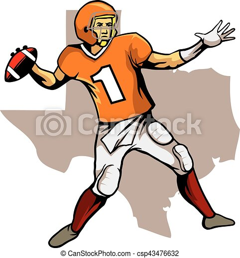 quarterback texas team a vector illustration for american rh canstockphoto ca