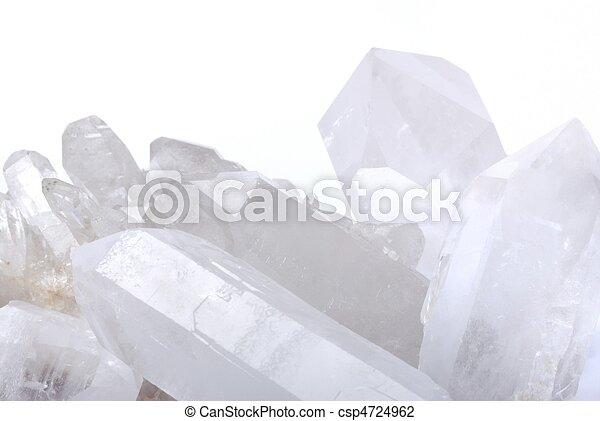 Quartz crystals on white - csp4724962