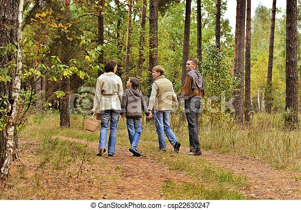 quatre, automne, famille - csp22630247