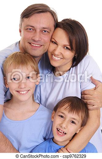 quatre, famille - csp9762329