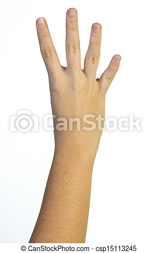quatre, main, doigts, air - csp15113245