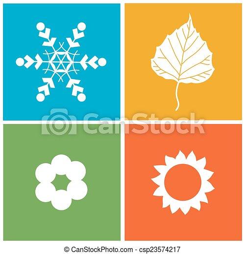 quatre, saison, illustration - csp23574217