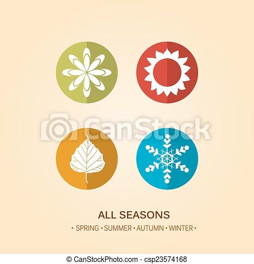 quatre, saison, illustration - csp23574168