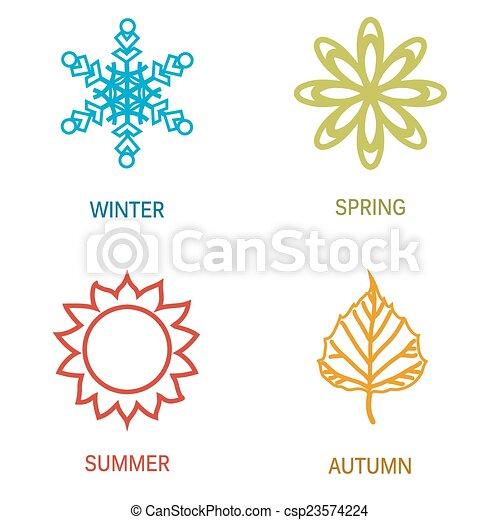 quatre, saison, illustration - csp23574224