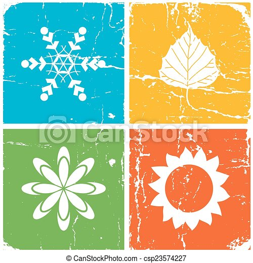 quatre, saison, illustration - csp23574227