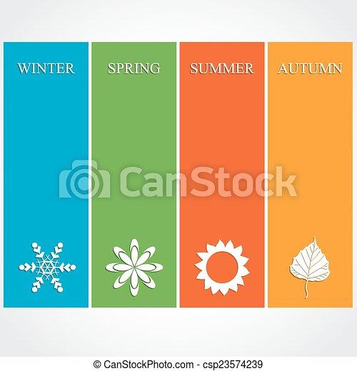 quatre, saison, illustration - csp23574239