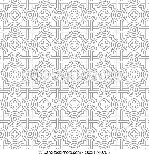 quatrefoils, motívum, összegubancolódott - csp31740705