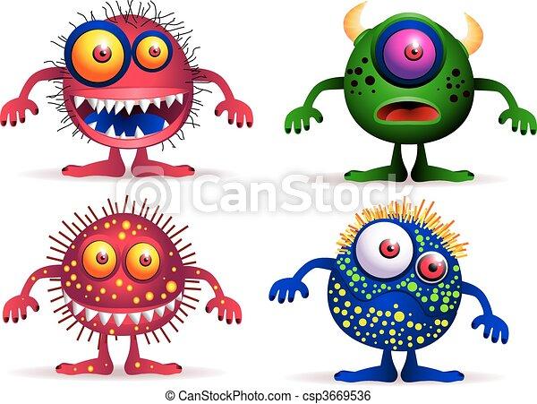 quatro, cute, criatura - csp3669536