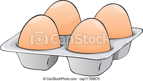 quatro ovos quatro ovo ovos bandeja ilustração