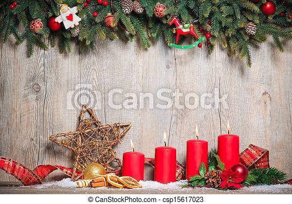 quattro, candele, avvento, urente - csp15617023