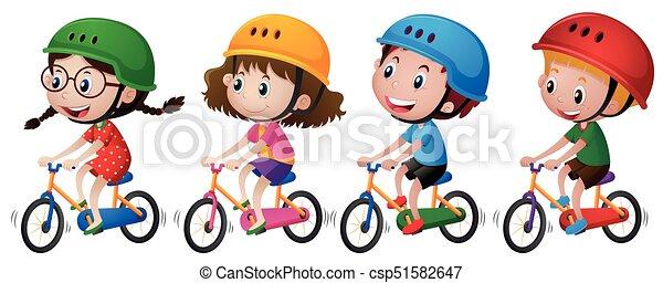 Quattro Casco Bambini Bicicletta Passeggia