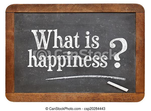 que, pergunta, felicidade - csp20284443