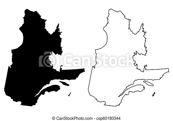 Map Of Canada Silhouette.Quebec Map