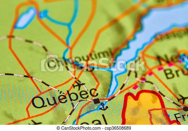 Quebec On The Map Quebec City In Canada On The World Map