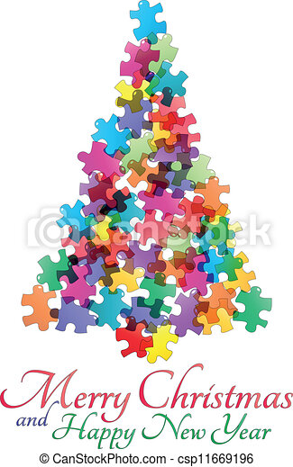 quebra-cabeça, árvore - csp11669196