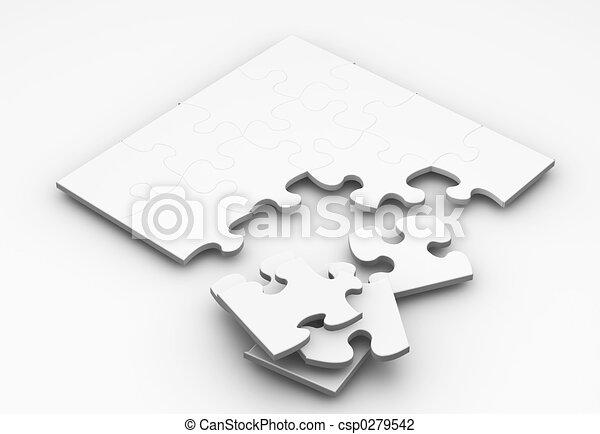 quebra-cabeça, inacabado - csp0279542