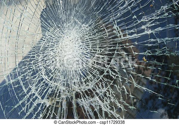quebrada, janela, pretas, sujo, vidraça, branca - csp11729338
