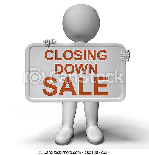 Cerrando letreros de venta en quiebra - csp13072633