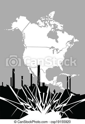 La industria destrozada - csp19155920
