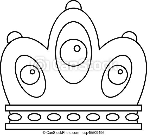 Queen Crown Icon Outline Style Queen Crown Icon Outline