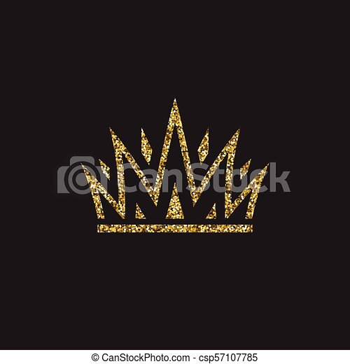 Queen Crown Royal Gold Headdress King Golden Accessory Isolated