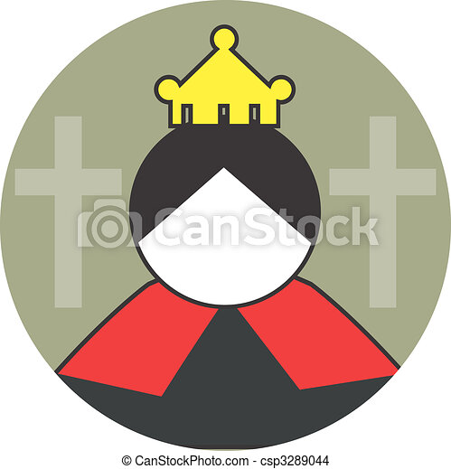 Queen Illustration Of A Symbol Of Female Worn A Crown