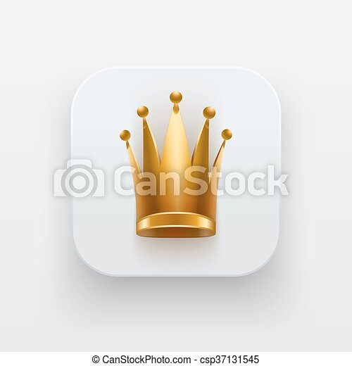Queen Icon Symbol Of Crown On Light Backdrop Queen Icon Luxury
